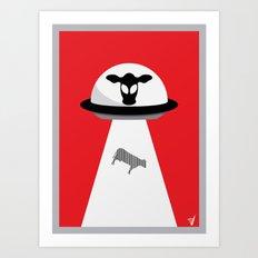 Space Cows Art Print