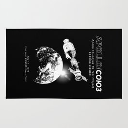 Apollo 18 Soyuz 19 docking mission Emblem-USA-USSR-1975-Space-Astronomy-Science Rug