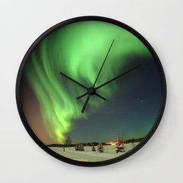 Auroa Borealis Wall Clock