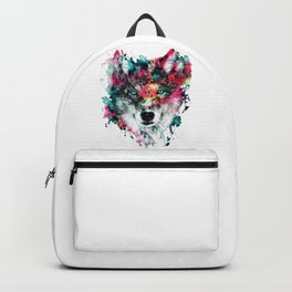 Wolf Face, Colorful Wolf Backpack