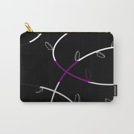 Jagged leaves, demisexual pride flag Carry-All Pouch