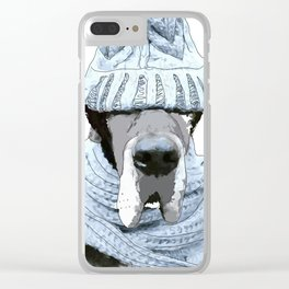 Great Dane Winter is Here Clear iPhone Case