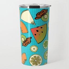 Tropical Fruit Pattern Travel Mug