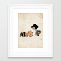 charlie brown Framed Art Prints featuring Charlie Brown by Lucas de Souza