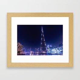 Burj Khalifa Skyscraper In Dubai Framed Art Print