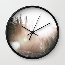 Sunny Forest III Wall Clock