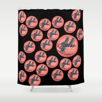 nba Shower Curtains featuring SPURS HAND-DRAWING DESIGN by SUNNY Design