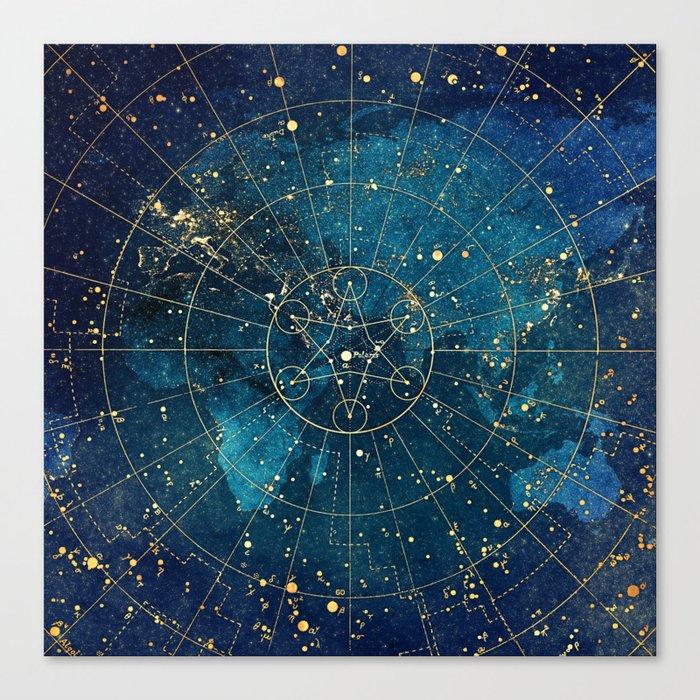 Star Map :: City Lights Leinwanddruck