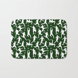 Soccer Players // Dark Green Bath Mat
