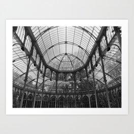 Palacio de Cristal - Madrid, Spain Art Print