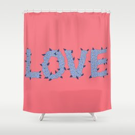 love wins pink version Shower Curtain