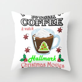 This Is My HallMark Christmas Movie Watching Shirt Throw Pillow
