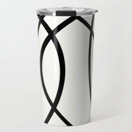 Community - Black and white abstract Travel Mug