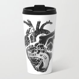 Heart (stay wild) Metal Travel Mug