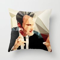 quentin tarantino Throw Pillows featuring Quentin Tarantino // Reservoir Dogs by VIVA LA GRAPH!