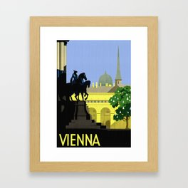 Vienna Austria Vintage Travel Framed Art Print