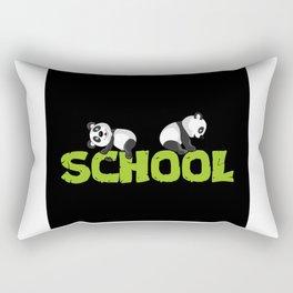 Panda School Gift Idea Design Motif Rectangular Pillow
