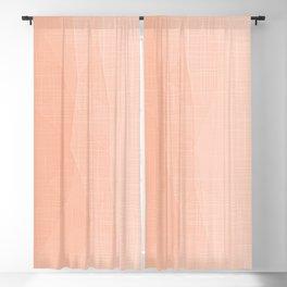 A Touch Of Peach - Soft Geometric Minimalist Blackout Curtain