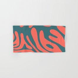 Living Coral in the Deep Sea - Pantone Color Trend 2019 Hand & Bath Towel
