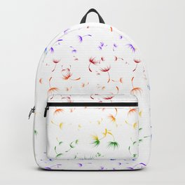 Dandelion Seeds Gay Pride (white background) Backpack