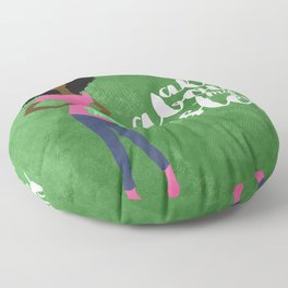 ALL ABOUT MY SISTERS -PNK/GRN Floor Pillow