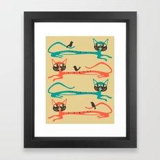 Birds on Cats Framed Art Print