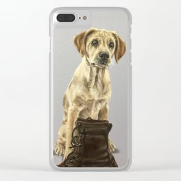 Rosie The Labrador Clear iPhone Case