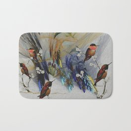 Rufous Hummingbirds Bath Mat
