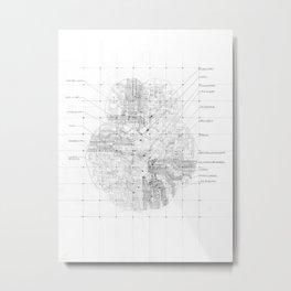 Cerebral Metal Print