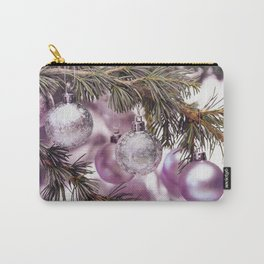 Pink Christmas shimmering baubles twig Carry-All Pouch