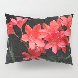 red lili Pillow Sham