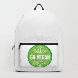 GO VEGAN, green circle (2) Backpack