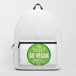 GO VEGAN, green circle (2) Backpack