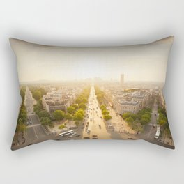 Champs Elysees From the Top Rectangular Pillow