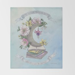 Freedom, Books, Flowers and The Moon Throw Blanket