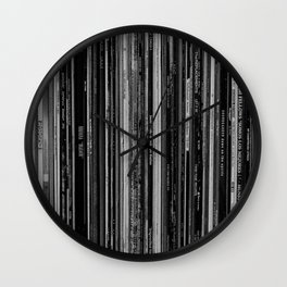 Alt Rock Vinyl Records Wall Clock
