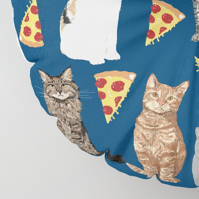 Cats pizza slices food cat lover pet gifts must have cat breeds Floor Pillow