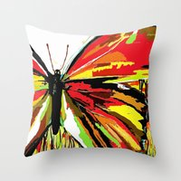 butterfly Throw Pillows featuring Butterfly  by Saundra Myles