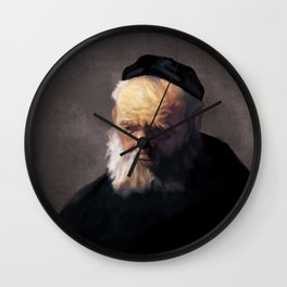 Rembrandt's Old Man In A Cap Wall Clock