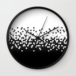 Flat Tech Camouflage White and Black Wall Clock