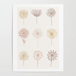 Dandelion pattern Poster