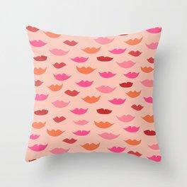 LIP SERVICE {peach} Throw Pillow