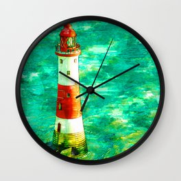 Lighthouse In Eastbourne UK Abstract - For Lighthouse Lovers Wall Clock
