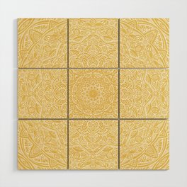 Most Detailed Mandala! Yellow Golden Color Intricate Detail Ethnic Mandalas Zentangle Maze Pattern Wood Wall Art