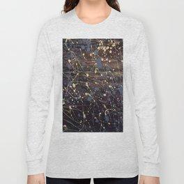 New York. Graffiti, Abstract, Blue, Purple, Pollack, Jodilynpaintings, Splatter Long Sleeve T-shirt