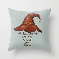 discworld Throw Pillows featuring Wizzard by Atalanta Run