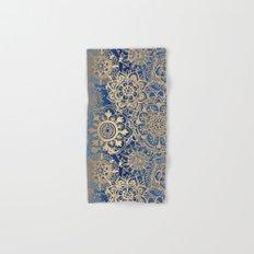Blue and Gold Mandala Pattern Hand & Bath Towel