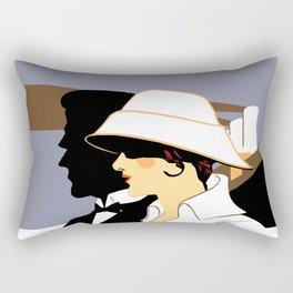 Retro naval marine style ad Southampton Rectangular Pillow