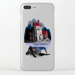 floating village Clear iPhone Case