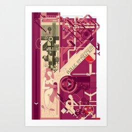 Phallic Attachment Art Print